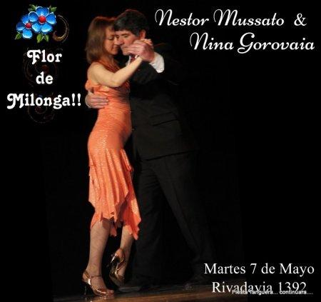 Nestor y Nina en flor de milonga